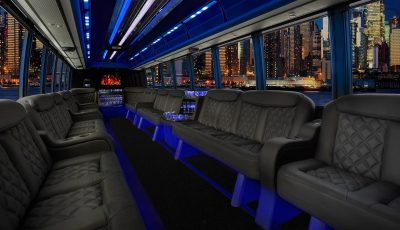 Grech Limo Bus interior