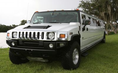 White Hummer Limo Rental Boston