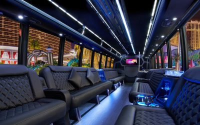 Boston Party Bus Limo Interior